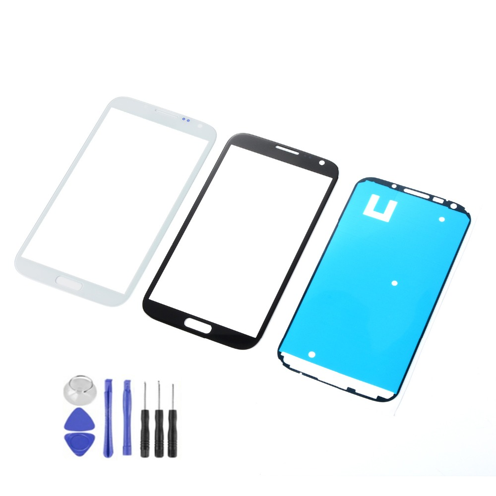 LCD Front Glass Touch Screen For Samsung Galaxy Note 2 II N7100 N7105 N7108 I317 T889 L900 Touch Screen Sensor+Adhesive+Tools image