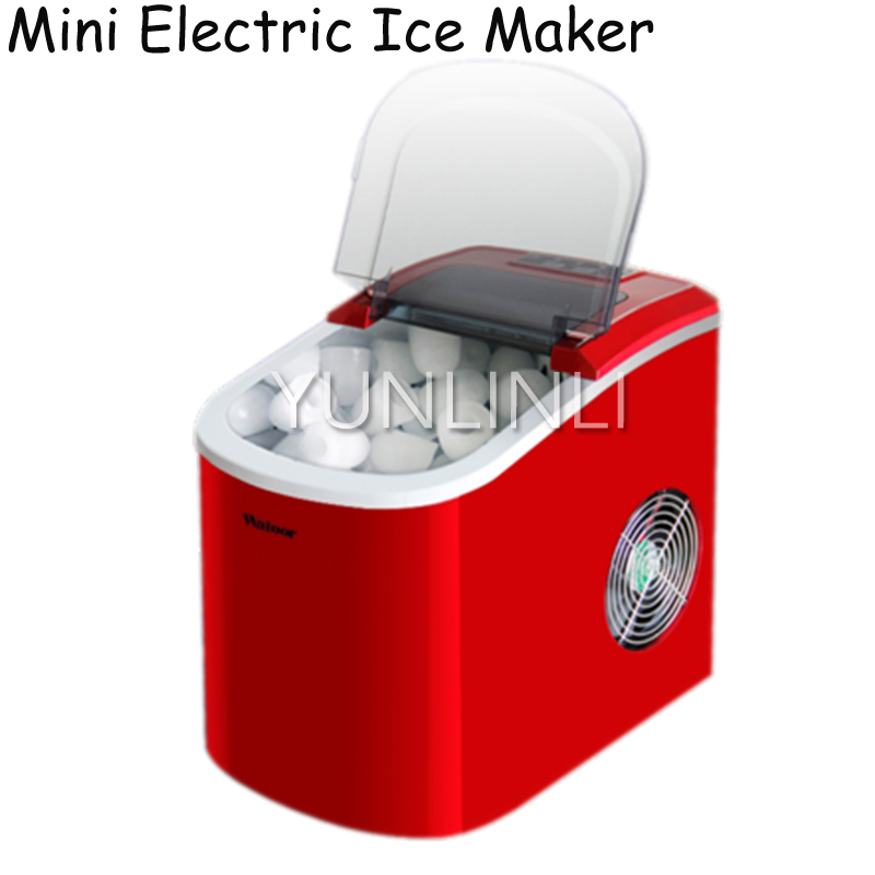 15KG/24H Electric Ice Maker Household Fast Ice Making & Manual Adding Water Ice Cube Machine HZB-12/A льдогенератор i ice im 006 a hzb 12 a нержавейка
