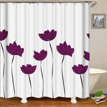 Kiwiberry Kinds Of Flowers bathroom Shower Curtain Fabric Liner with 12 Hooks 72Wx80H inch Waterproof and Mildewproof