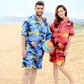 2017 Мужчины Гавайи Праздник Случайные Пляжные Шорты Летние Свободные Quick Dry Мужчины Шорты Цветочный Печатных Совета Шорты Плюс Размер A1654
