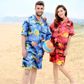 2017 Men Hawaii Holiday Casual Beach Shorts Summer Loose Quick Dry Male Shorts Floral Printed Board Shorts Plus Size A1654
