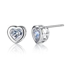 Heart-shaped Zircon Earrings Fashion Exquisite Temperament Jewelry Korean Style Womens Wholesale