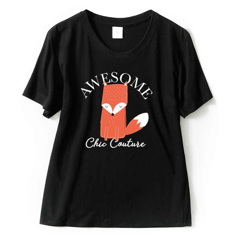Потрясающая футболка с рисунком для женщин Kawaii милые женские футболки с короткими рукавами качественные повседневные топы для девочек из 100% хлопка