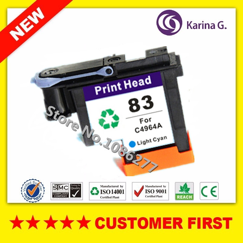 1x Light Cyan Remanufactured Ink Cartridge Head For C4964A HP83 Printhead For Designjet 5000 5500 inkjet printer картридж hp inkjet cartridge 85 light cyan c9428a