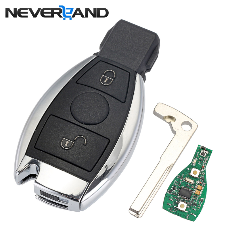 2 Buttons Keyless Entry Remote Car Key 433 MHz for Mercedes BENZ 2000+ with NEC&BGA Key Shell Replacement Case D25