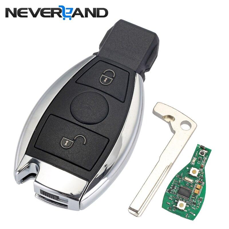 2 boutons D'entrée Sans Clé De Voiture À Distance Clé 433 mhz pour Mercedes BENZ 2000 + avec NEC et BGA Clé Shell cas de remplacement D25