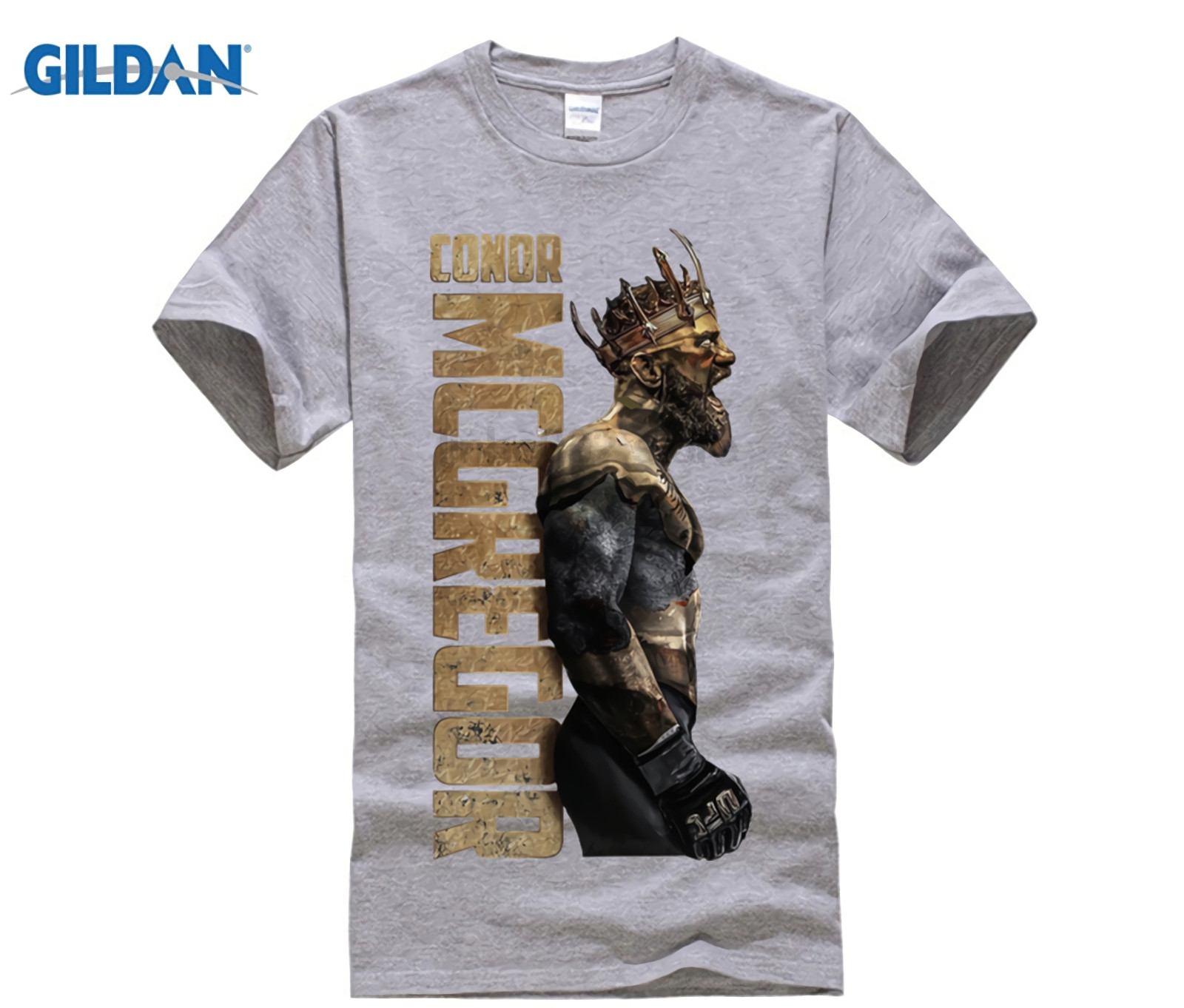 Brave Gildan Speg The King Of Conor Mcgregor Notorious T Shirt Men Short Sleeve Tops 100% Cortton Tee Clothes Male T-shirt