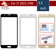 TouchScreen For Samsung Galaxy J7 2015 J700 J700F J700FN J700M J700H SM-J700F Touch Screen Front Panel Glass Lens Outer LCD цена 2017