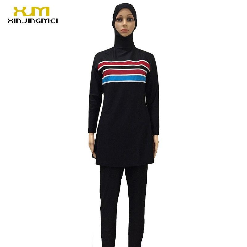 Bathing Suit Women Full Coverage Modest Muslim Swimwear Arab Beach Wear Muslim hijab Swimsuits Islamic Swimsuit Women in Muslim Swimwear from Sports Entertainment