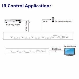 Image 5 - 4K * 2K 3D HDMI مصفوفة التبديل الجلاد 4X4 IR/RS232 التحكم الذكور موصل DTS /AC3/DSD امدادات الطاقة ل HDTV عرض شحن مجاني
