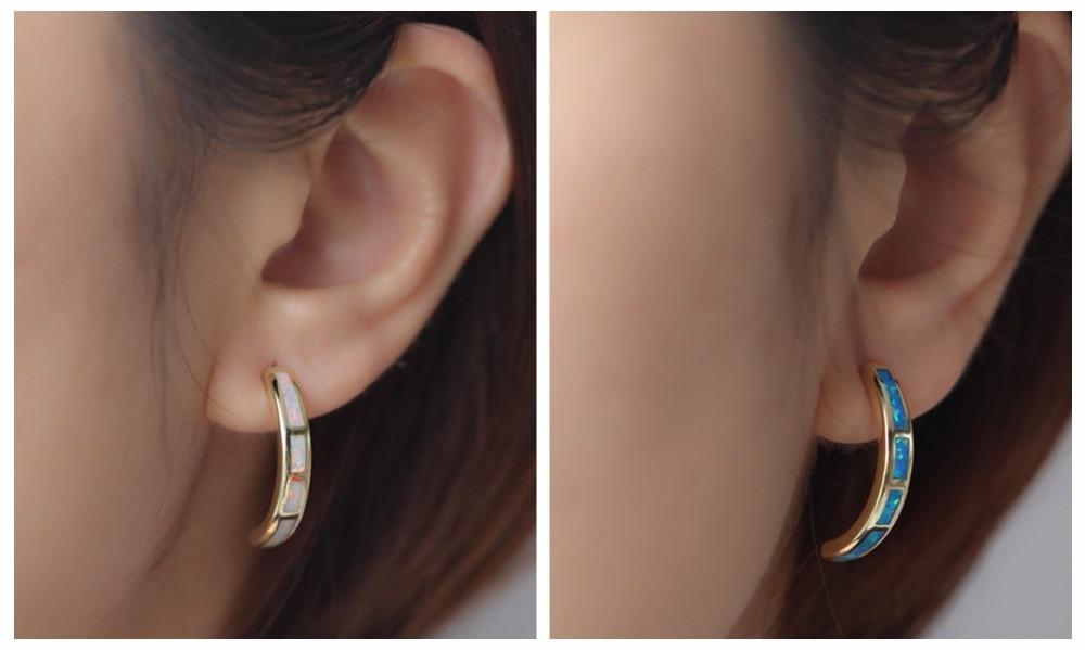 wihte opal yellow gold stud earrings_