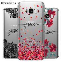 Dreamfox DIY Nama Custom Case PENUTUP UNTUK Samsung GALAXY Catatan S 3 4 5 6 7 8 9 Edge PLUS grand Prime Disesuaikan Soft TPU Silicone(China)