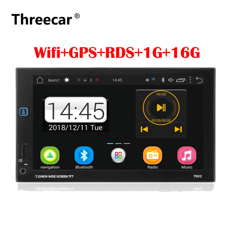 2 Din Car Radio Android 7.0  Universal GPS Navigation Bluetooth Touchscreen Wifi Car Audio Stereo FM USB Car Multimedia MP5 2 Din Car Radio Android 7.0  Universal GPS Navigation Bluetooth Touchscreen Wifi Car Audio Stereo FM USB Car Multimedia MP5