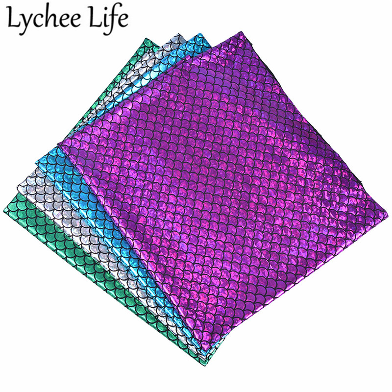 af03acc71 Detail Feedback Questions about Lychee Life Mermaid Hologram Stretch  Polyester Fabric Colorful 50x150cm Spandex Fabric DIY Handmade Sewing  Clothes ...
