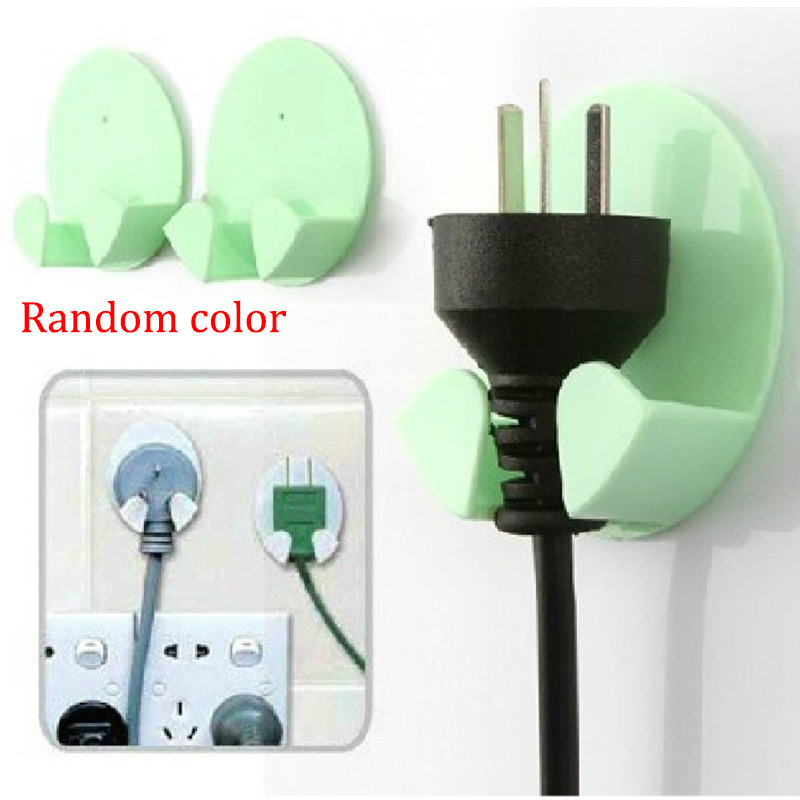 2Pcs Practical Self-AdheSive Power Plug Socket Holder Sticky Hooks Home Hotel Wall Hanger Storage Tools CLH high quality original projector lamp poa lmp47 for plc xp41 plc xp41l plc xp46 plc xp46l with 6 months