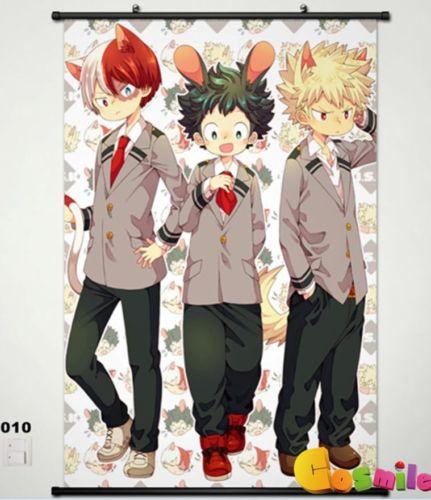 My Hero Academia Katsuki Bakugo Home Decor Japanese Anime Wall poster Scroll
