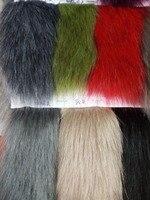 Simulation fox fur dyed tips faux fur collar fabric