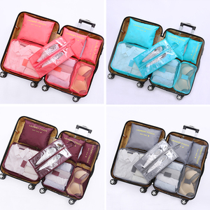 Image 3 - New Arrival Packing Cube Travel Bag 7 PCS/Set High Quality Oxford Cloth Travel Mesh Bag hand luggage Travel Bag Free shipping