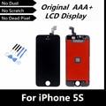100% первоначально жк-экран замена для iPhone5S сенсорный экран планшета ассамблея рамка для iPhone 5S черный цвет + бесплатные инструменты