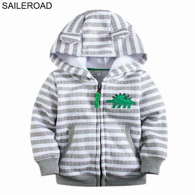 SAILEROAD New 18M-7Years Animals  Dinosaur Children Kids Outerwear Coat With Zipper Baby Girls Boys Hoodies Coat Boys Fleece