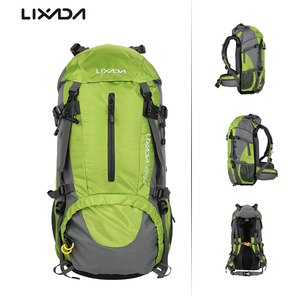 Lixada 50L Water Resistant Outdoor Bags Backpack Pack Mountaineering Climbing Backpacking Trekking Bag Knapsack with Rain Cover tofine outdoor backpack women hiking trekking bag camping travel water resistant men pack mountaineering climbing bags knapsack