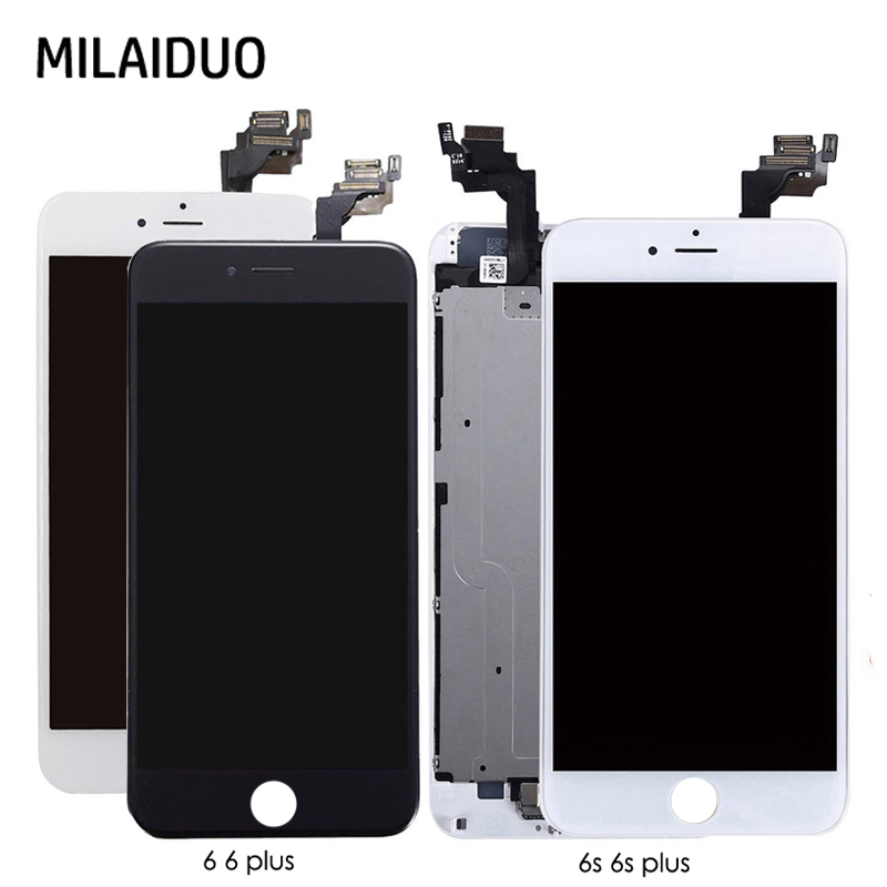 LCD Display For iPhone 6 6 Plus 6s 6s Plus Touch Screen Digitizer+Home Button+Front Camera+Ear Speaker Full Assembly Replacement image