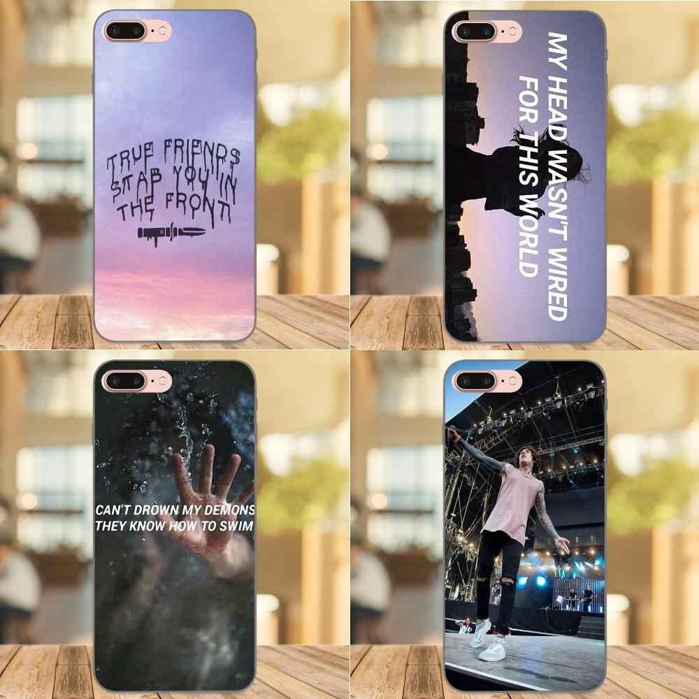 "Nuevo ""el horizonte Bmth TPU de la cubierta del caso para Apple iPhone 4 4S 5 5S iPhone 6 S 7 8 Plus X XS X Max XR"