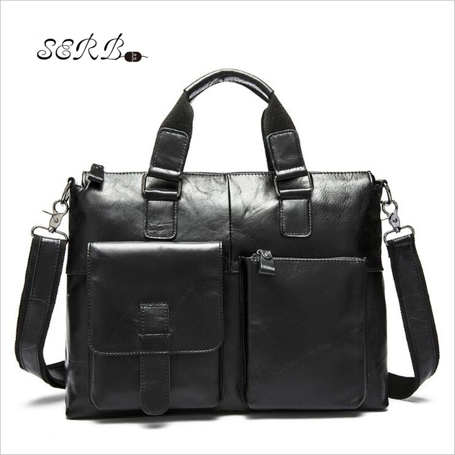 Hot Genuine Cowhide Leather Men Bag Men's Shoulder Crossbody Bags Business Men Messenger Bags High Quality Travel Bag Flap