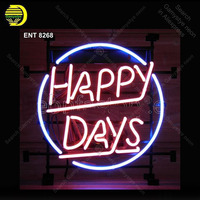 Neon Sign for Happy Days Neon Bulb Sign Custom Light up wall sign for Room Custom nein sign Express Lamp Beer room Accesaries