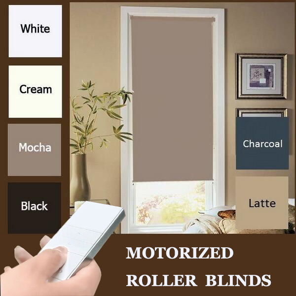 Free shipping new motorized blackout roller blinds 200cm for Motorized blackout roller shades