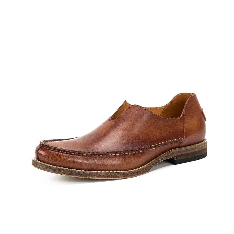 Hombres Deslizamiento La Alta Holgazanes Diseñador Los Moda En Zapatos Mocasines Lujo De Cuero Coffee Mycolen 2018 Del Calidad Hombre Manera Marca Mens brown qw5z6AxnS
