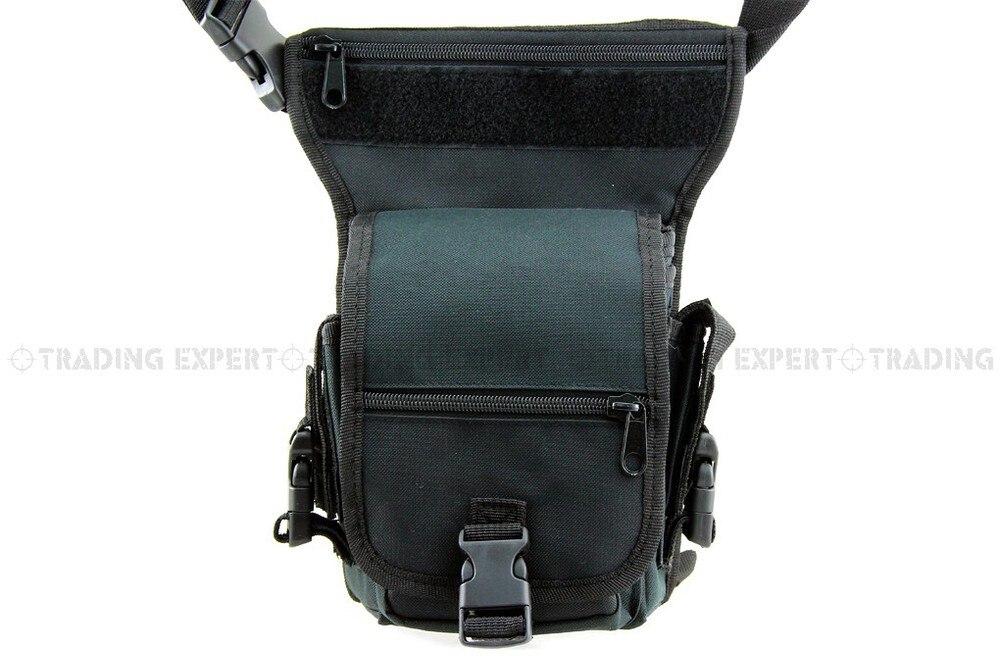 Военный Тактический поясной рюкзак США Тактический песок утилита поясная сумка WG-03-зеленый камуфляж BK - Цвет: BK