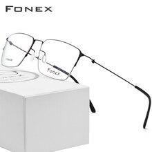2db39ada5 التيتانيوم النظارات الإطار الرجال شبه بدون شفة النظارات الطبية المرأة قصر  النظر إطارات البصرية خفيفة الكورية Screwless نظارات
