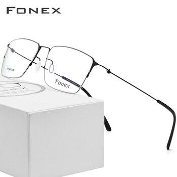 4bfd3c1b5d Montura de gafas de titanio para hombre, gafas de prescripción Semi sin  montura para mujer, monturas ópticas de miopía, gafas ultraligeras coreanas  sin ...