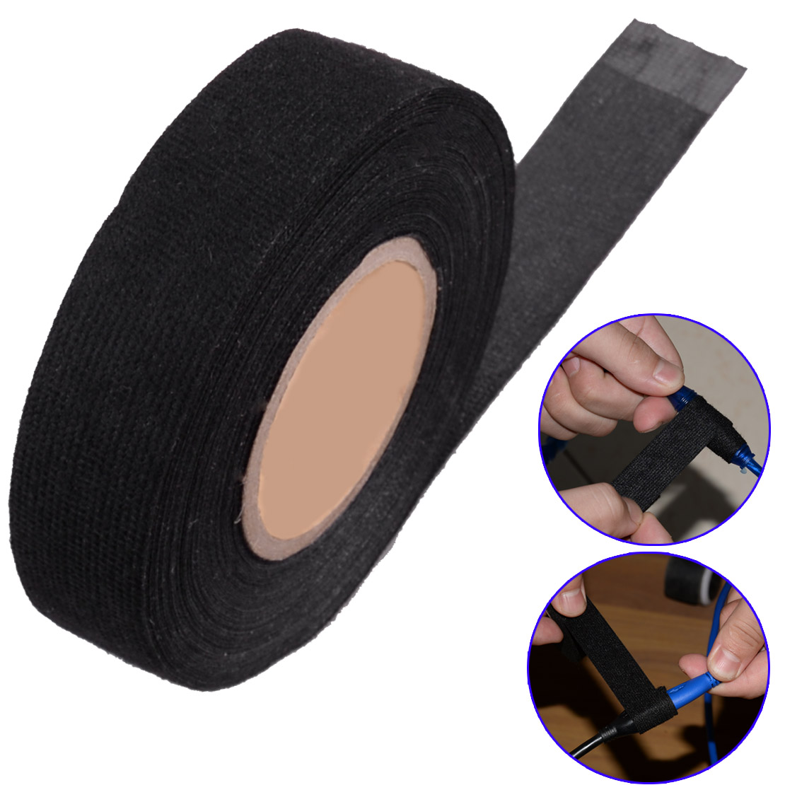 CITALL Car Universal 19mm 15M Wiring Harness Velvet Cloth Fabric Adhesive Tape for Car Automotive Heat Resistant