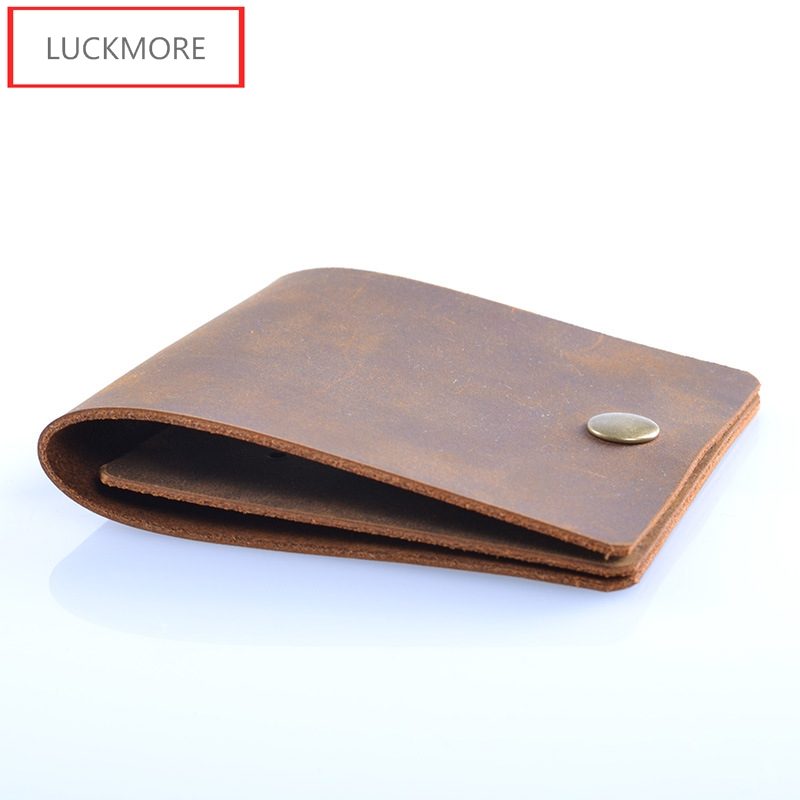 LUCKMORE Brand Men Genuine Leather Thin Wallets Card Holder Luxury Purse Designer High Quality Business Mini Wallet Dollar Price new brand men wallets dollar price purse genuine leather wallet card holder designer clutch business mini wallet high quality