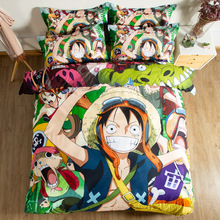 ONE PIECE 3D bedding set Monkey D. Luffy Duvet Covers Pillowcases Cartoon comforter sets bedclothes bed linen