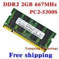 Для samsung DDR2 4 ГБ 2 x 2 ГБ 667 мГц PC2-5300S DDR 4 г оригинальный портативный ноутбук памяти RAM 200PIN SODIMM