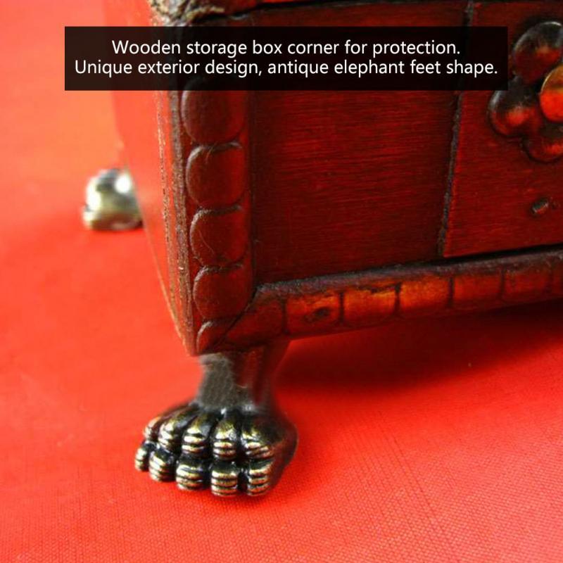 4Pcs Elephant Feet Shape Corner Brackets Protectors Jewelry Wooden Box Decorative Antique Feet Leg corner protector box feet in Corner Brackets from Home Improvement