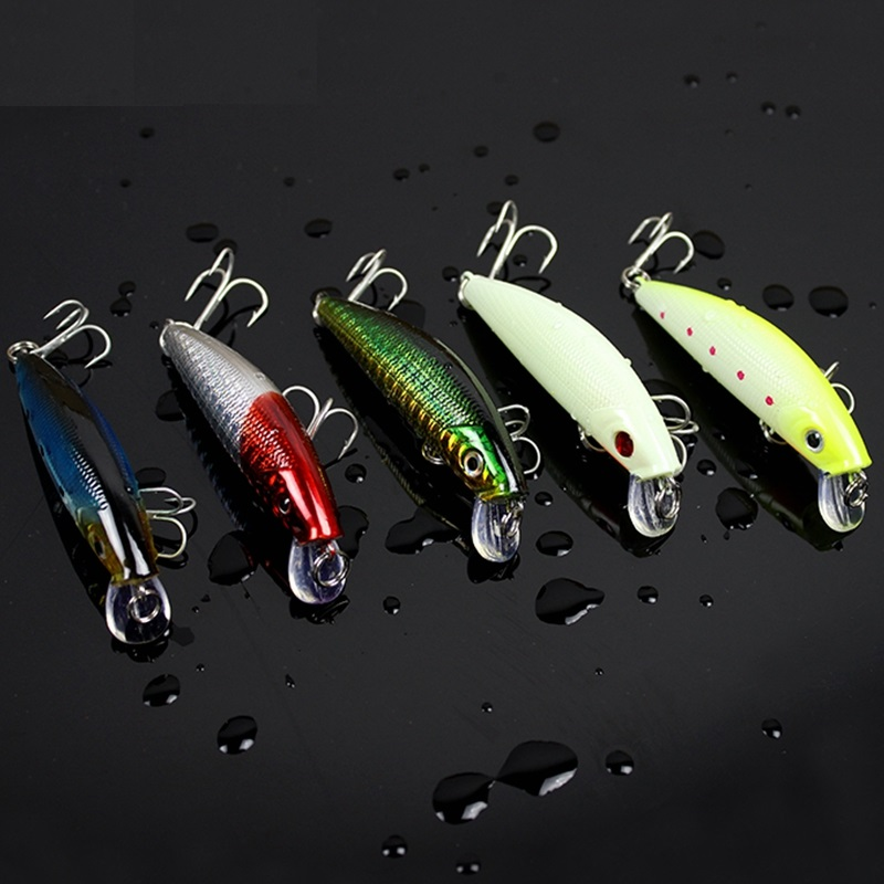 Japan Top quality Yapada Bass lure Pesca Fishing lures Minnow Wobblers BKK Hook iscas artificiais camarao 5pcs/lot  8g 7cm-in Fishing Lures from Sports & Entertainment