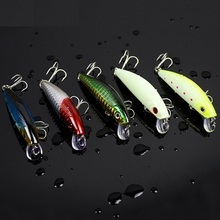 Japan Top quality Yapada Bass lure Pesca Fishing lures Minnow Wobblers BKK Hook iscas artificiais camarao 5pcs/lot  8g 7cm