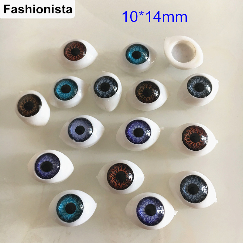 100 Mixed Colors eyeball Resin Cabochons,Marquise 10*14mm,Small ...