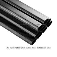 2pcs Pack 30x20x500mm Carbon Fiber Octagonal Tubes 3K Twill Matte Pure Carbon Fiber Boom