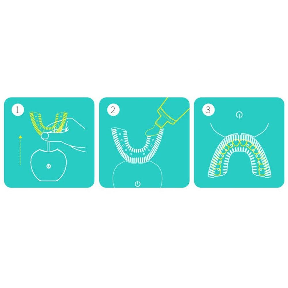 Volautomatische Elektrische Tandenborstel 3D Sonic Mond Cleaner Tandenborstels USB Oplaadbare Tanden Poets & Whitening Tool 5