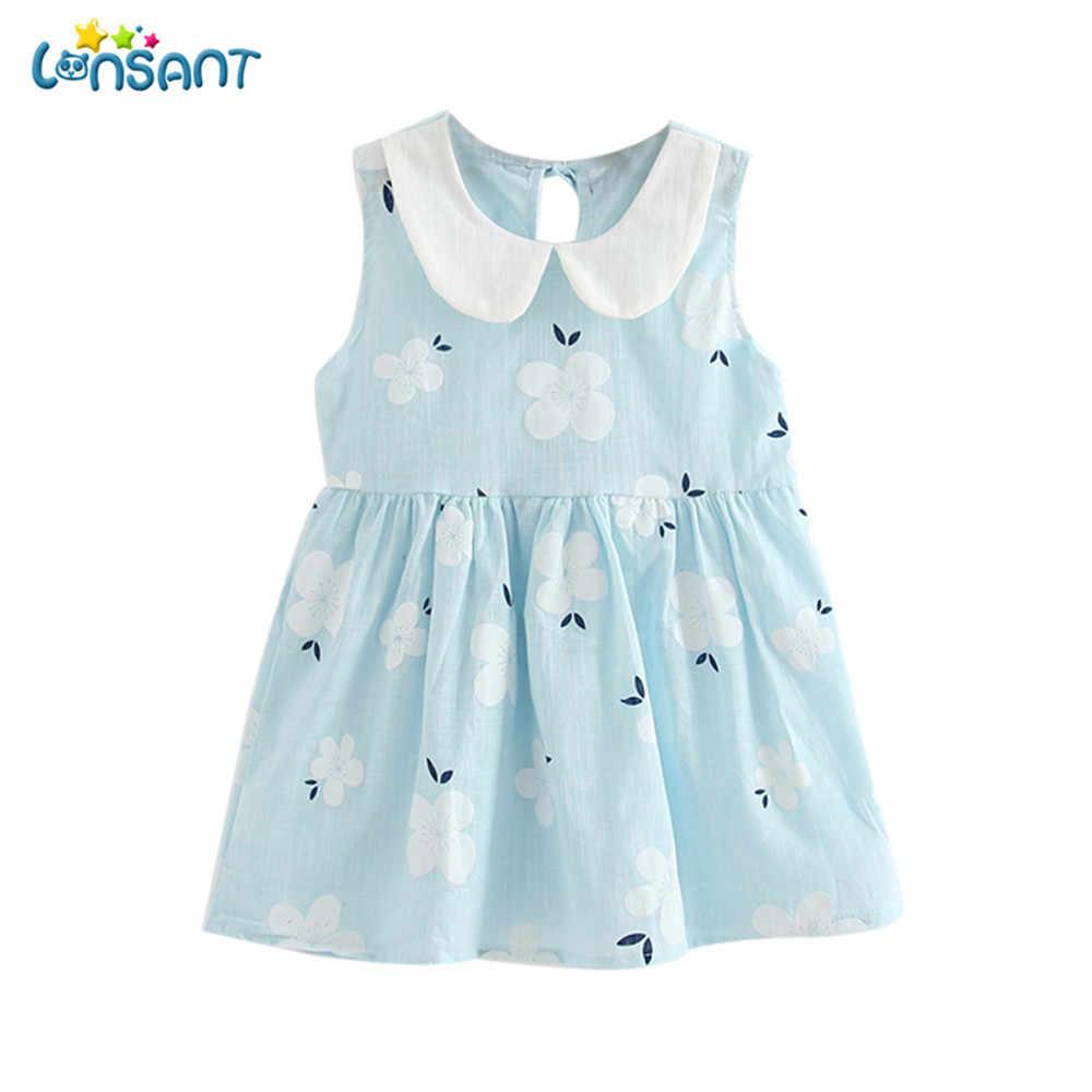 c58ef1d2fc66 ... LONSANT Newborn 2018 Baby Girl Clothes Toddler Girls Summer Princess  Dress Kids Baby Party Wedding Sleeveless ...