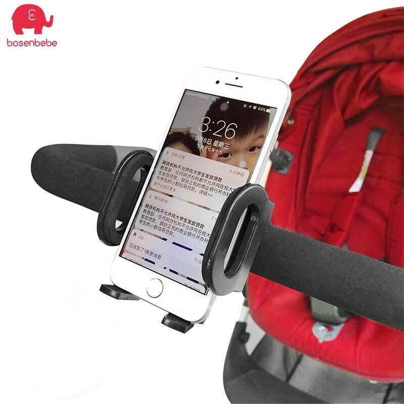 Baby Stroller Mobile Phone Holder Infant Stroller Carriage Cart Accessory Plastic Bicycle  Mobile Phone Holder For Baby Stroller