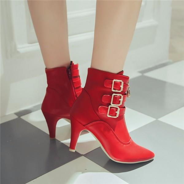 women high heels ankle boots pointed toe ladies shoes - free shipping! Women High Heels Ankle Boots Pointed Toe Ladies Shoes – Free Shipping! HTB1q4aLLXXXXXX2XXXXq6xXFXXXl