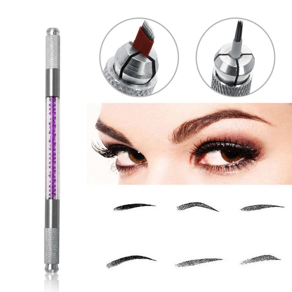 Tattoos & Body Art 5pcs 3d Microblading Needles Eyebrow Tattoo Microblade Pro Sloped 16 Pins Blades