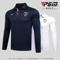 PGM Herfst Winter Golf T-shirt Mannen Lange Mouw Sneldrogende Golf Shirts Mannen Sport Leisure Golf Polo Shirts Ademend Golf Apparel