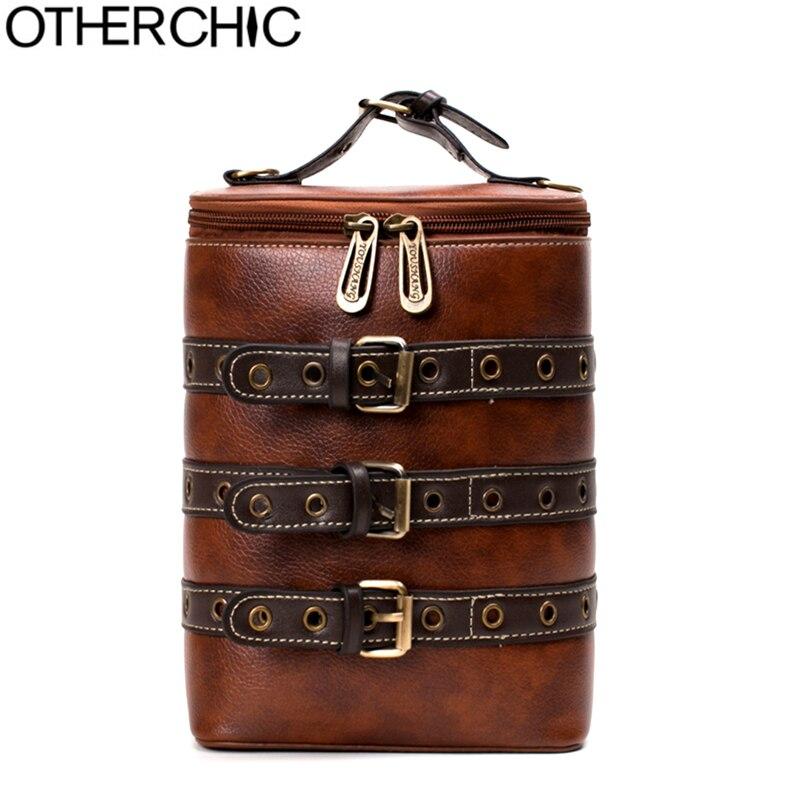 OTHERCHIC PU Fashion Leather Belts Women Bags Vintage Shoulder Bags Crossbody bags Teenager Women Backpacks Sac